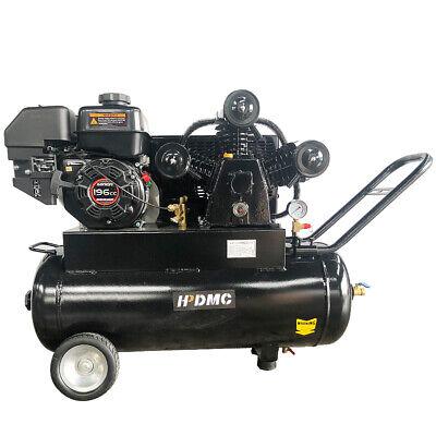 6.5 Hp Wheeled Air Compressor 20 Gal Asme Tank 18 Cfm 125 Psi For Loncin Engine