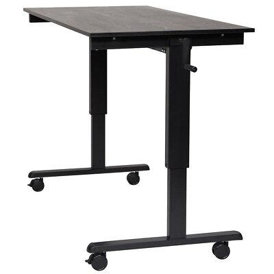 Luxor Standcf60-bkbo 60-inch Steel Mobile Crank Adjustable Stand Up Desk
