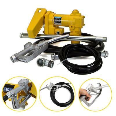 Gasoline Fuel Transfer Pump 12v 20gpm Kerosene Nozzle Kit Brand New Portable