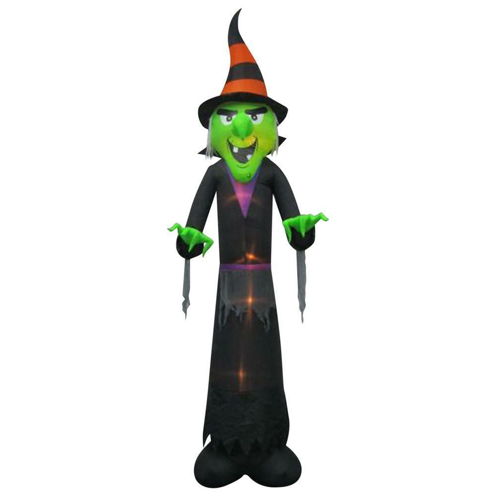 12 Ft Inflatable Witch Halloween Yard Decor Lighted Scary Haunted House