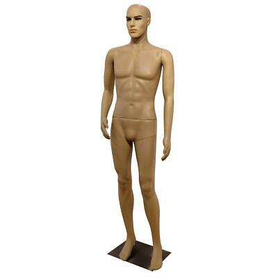 6ft Male Mannequin Manikin Metal Stand Plastic Full Body Realistic Man Clothes