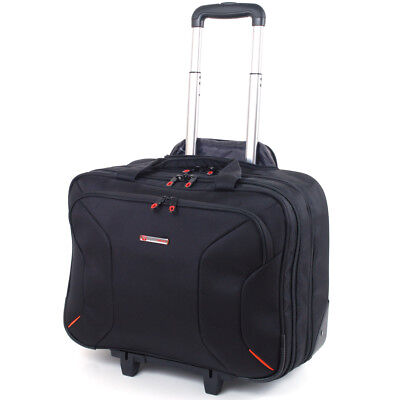 "Alpine Swiss Rolling Briefcase on Wheels Roller 17"" Laptop C"