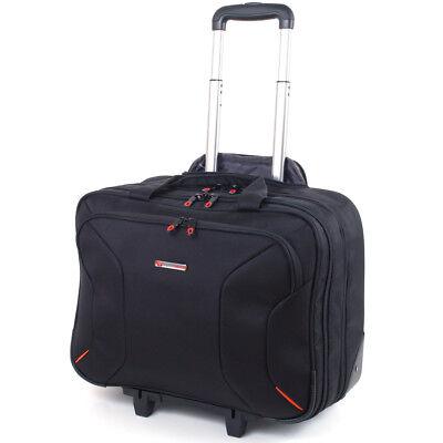 "Alpine Swiss Rolling Briefcase on Wheels Roller 17"" Laptop C"