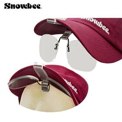 SNOWBEE CAP PEAK CLIP ON MAGNIFYING LENSES FLIP UP FOR HAT 18063