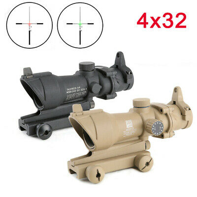 Airsoft Tactical Rifle Scope ACOG 4X32 Red Green illuminated Optical sight