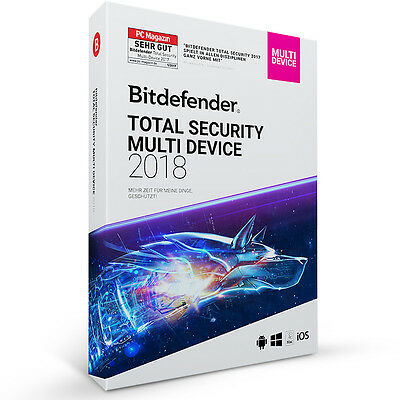 Bitdefender Total Security 2018 Multi-Device 5 Geräte PC - PER EMAIL