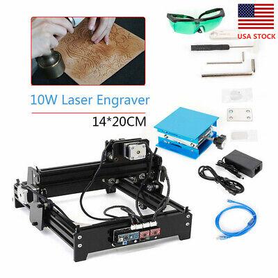 Cnc 10w 110v Diy Engraver Laser Engraving Usb Desktop Metal Wood Plastic Cutter