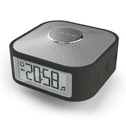 Oregon Scientific 8.5cm Smart Square Bluetooth Alarm/Speaker Clock w/Mic Black