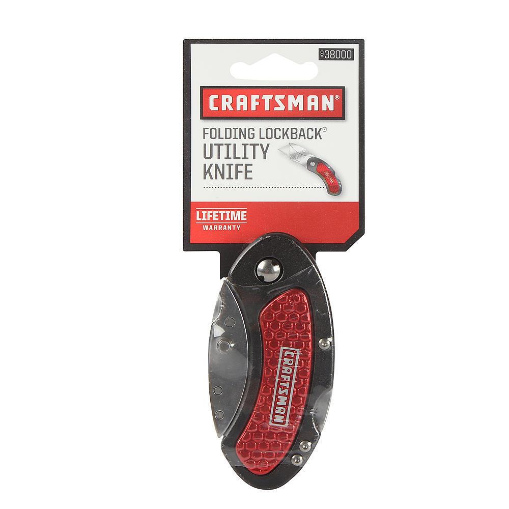 RED CRAFTSMAN LOCKBACK FOLDING UTILITY KNIFE NWT  STOCKING S