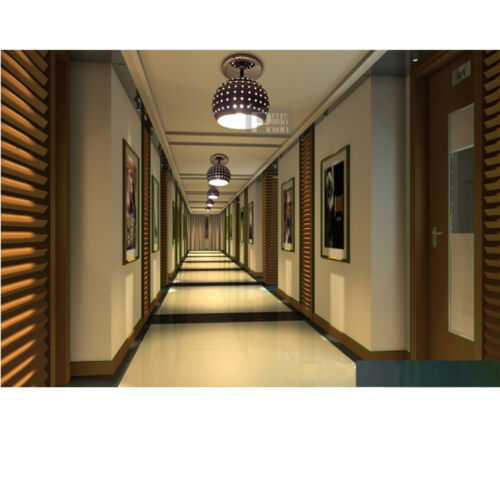 Light Fixtures For Hallways: Small LED Chandelier Silver Lampshade Aisle Hallway