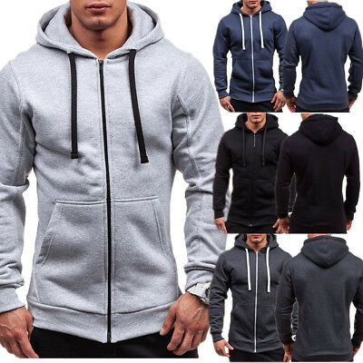 NEW Mens Women's Thick Zip-Up Hoodie Warm Winter Hooded Jacket Jumper Unisex (Thickness Zip)