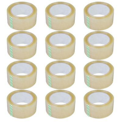 12 Rolls 2.7mil 60yards Heavy Duty Carton Packing Shipping Sealing Tape 180ft