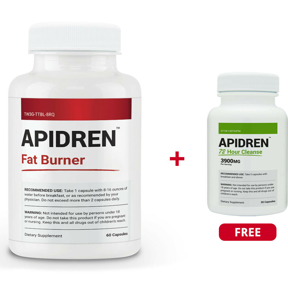 Apidren & Apidren 72 Hr Cleanse - Strong Weight Loss Diet Pi