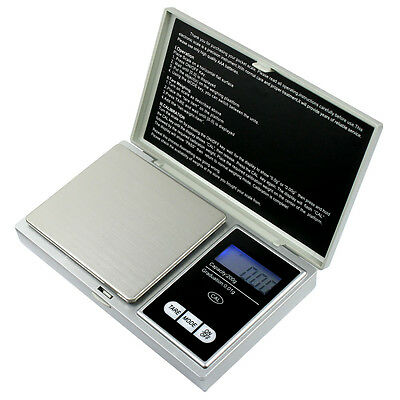 200g x 0.01g Digital Pocket Scale Portable Precision Weighing Scale - Silver