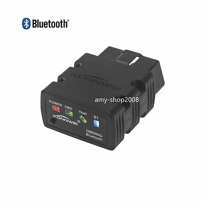 Bluetooth ELM327 OBDII OBD2 Car Diagnostic Interface Scanner For Android PC