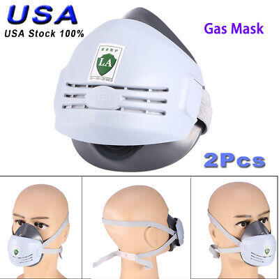 2x Universal Industrial Gas Chemical Anti-dust Paint Respirator Face Sprays Mask