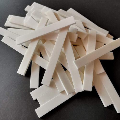 Guitar Bone Nut DIY String Acoustic nut Blank nut Blank Instrument Blank Nut Instrument Accessories 52x6x10mm 5pcs