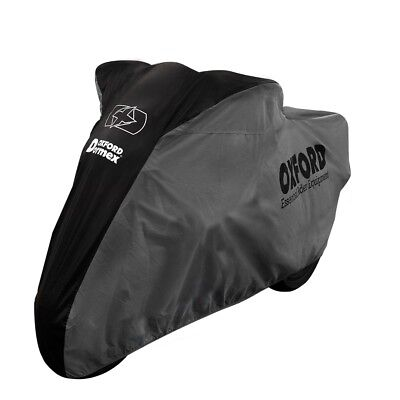Oxford Dormex Indoor Motorcycle Dust Cover Motorbike Covers Black/Grey - X-Large