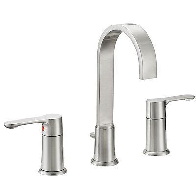 Designers Impressions Satin Nickel Widespread Bathroom Vanity Faucet