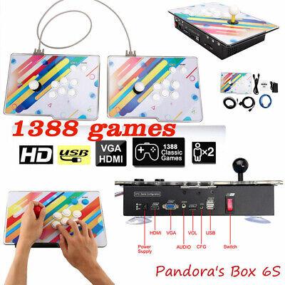 New Pandora's Box 6S 1388 In 1 Video Games Arcade Console Single Stick Fighting