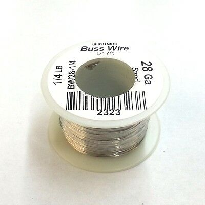 New 28 Gauge Tinned Copper Bus Wire 14 Pound Roll 517 Approx. Length 28awg