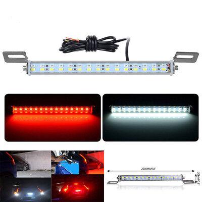 30 LED Car License Plate Backup Reverse Brake Rear Light Lamp Bar Red+White