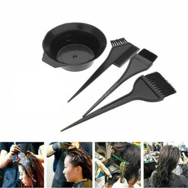 4x Salon Hair Coloring Dyeing Kit Color Dye Brush Comb Mixin