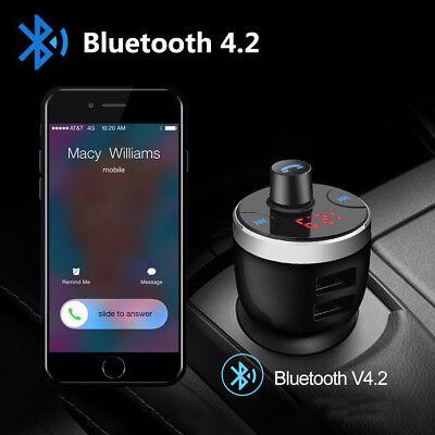 KFZ Bluetooth FM Transmitter Auto Bluetooth 4.2 Radio MP3 Player 2USB Adapter DE