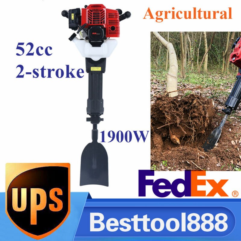 52CC Gasoline Excavator Sapling  Planting Shovel  Drilling Machine USA NEW