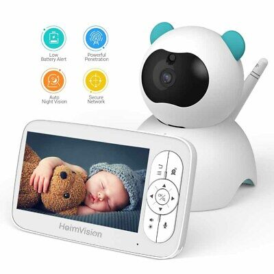 """HeimVision Video Baby Monitor 5"""" LCD Display 720P HD 2-Way Audio Security Camera"""