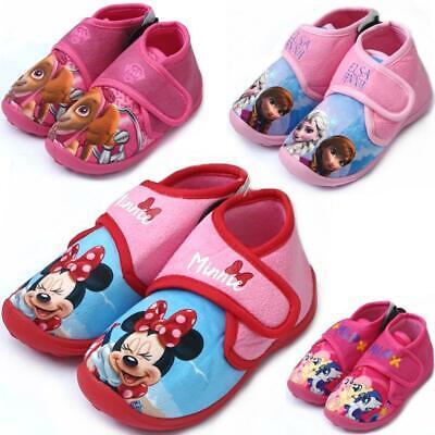 Kinder Hausschuhe für Mädchen Eiskönigin Paw Patrol Minnie Maus Disney 2-6 Jahre