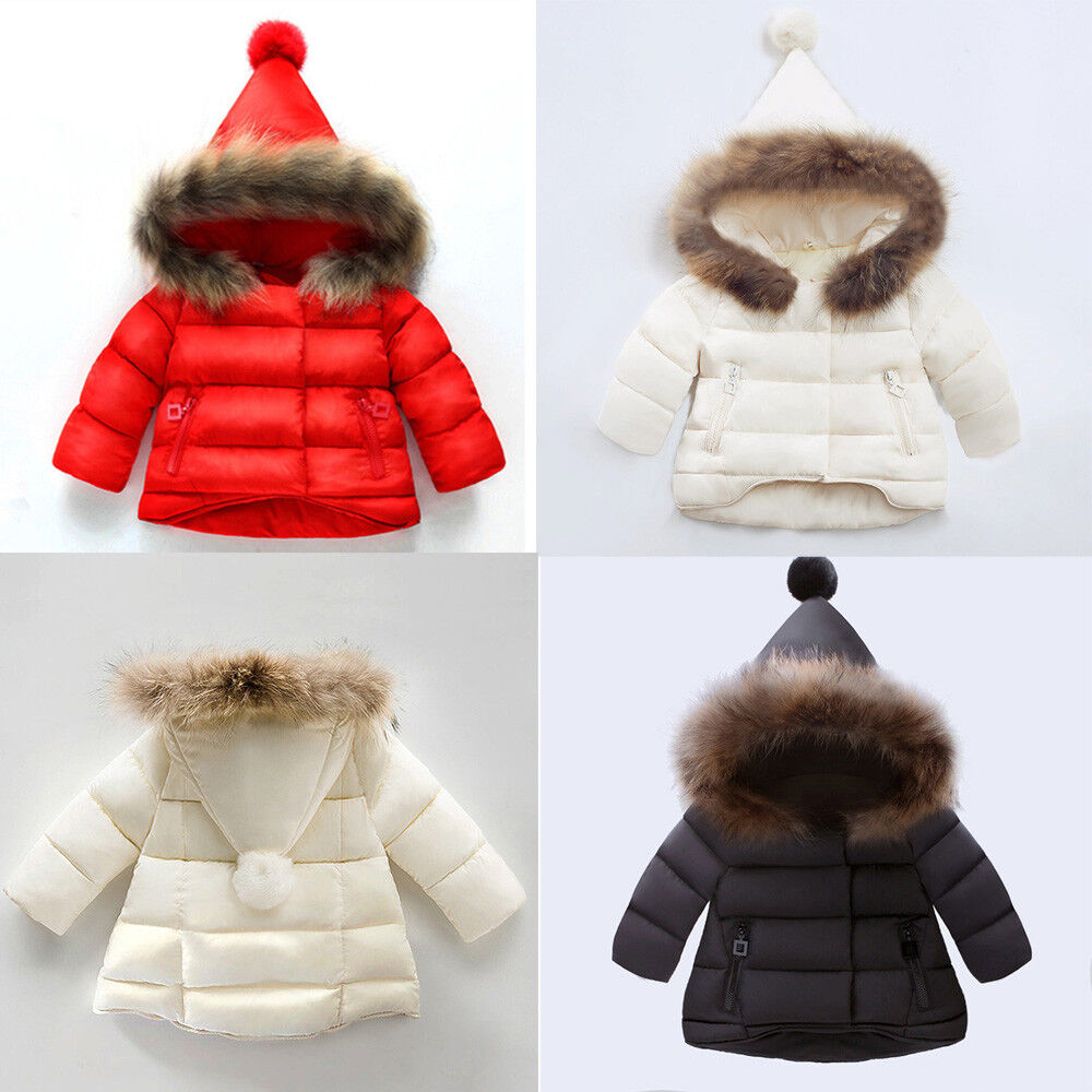 Toddler Children Baby Girls Boys Kid Down Jacket Coat Autumn Winter Warm Clothes