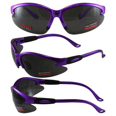 Women's Cougar Z87 Purple Safety Glasses Sunglasses Golf Lenses Global (Women's Safety Sunglasses)