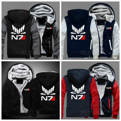 Game Mass Effect N7 Hoodie Cosplay Coat Jacket Winter Thick Hooded - Mass Effect Cosplay Kostüm