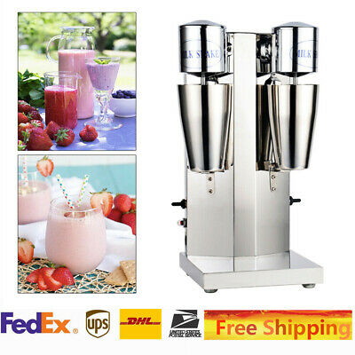 Commercial Stainless Steel Milk Shake Machine Double Head Drink Mixer 110v 60hz