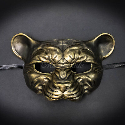 Masquerade Mask New 2017 Rusty Gold Cougar Halloween Props Animal Costume Unisex (Cougar Halloween)