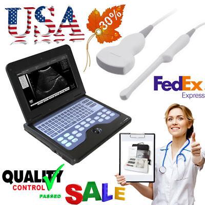 Portable Laptop Ultrasound Scanner Machine2 Probesdigital Diagnostic Systemce