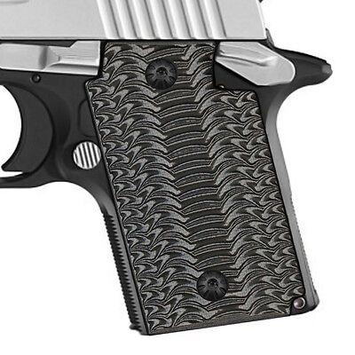 Sig Sauer P938 G10 Pistol Grips Grey Blk Color Otr Texture S H4 J4 5
