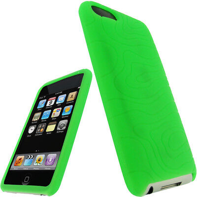 (Green Silicone Case for iPod Touch 2nd 3rd Generation 2G 3G iTouch Skin Cover)