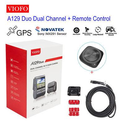 Viofo A129 Duo HD GPS PIP Dual Lens Car Dash Cam Night Vision+Remote Control