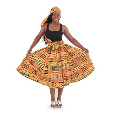 Kente African Women's Traditional Skirt (Multi-Color )