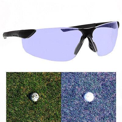 Golf Ball Finder Glasses Light Blue Lens Less Straining Sunglasses Gloss Black - Golf Ball Sunglasses