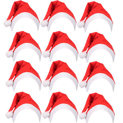 50 PACK FATHER CHRISTMAS SANTA HATS FANCY DRESS XMAS PARTY BULK WHOLESALE LOT  - Santa Hats Bulk