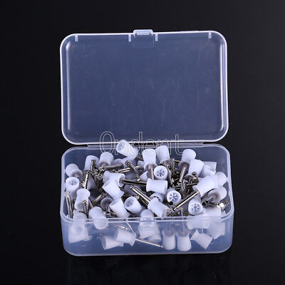100pcbox Dental Polishing Cups Flat Latch Type Rubber Cup Disposable
