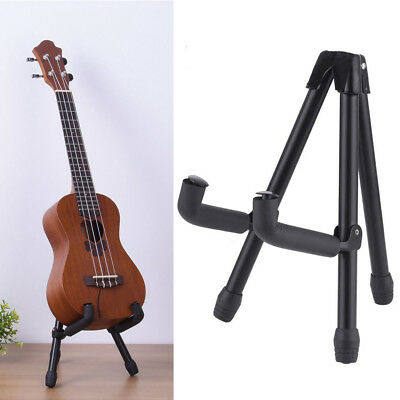 Folding Electric Acoustic Bass Guitar Stand A Frame Floor Rack Holder Hanger BLK A-frame Acoustic Guitar Stand