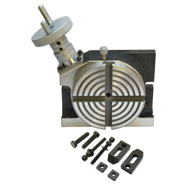 Heavy Duty 4 Hv Rotary Table Horizontal Vertical 100mm For Milling Machine