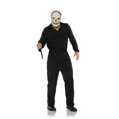 Classic Horror Movie Costumes (Black Boiler Suit Horror Movie Classic Jumpsuit Adult Halloween Costume)