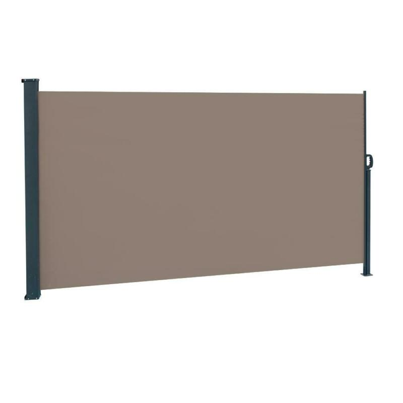 Retractable Awning Patio Outdoor Privacy Screen w/ UV Resistance