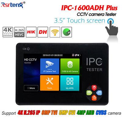 3.5 Cctv Ahd Cvi Tvi Cvbs Ipc 5in1 Camera Tester H.265 4k Wifi Ipc-1600adh Plus