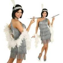 CHARLESTON Grey 1920s Flapper Costume Size Large 12-14 BNWT Madora Bay Mandurah Area Preview
